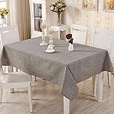 PQPQPQ Einfache und Moderne, die Tischdecke aus Baumwolle der reinen Farbe Leinen Stil des rechteckigen Couchtisch Tuch, 1 140 * 140 cm