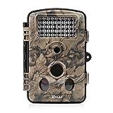 RAGU Wildkamera 12MP 1080P HD Infrarot, Nachtsicht, Jagdkamera mit Zeitraffer/ 20 Meter 120°/ 42 St. IR LEDs, Scouting Kamera für Draußen & Überwachungskamera