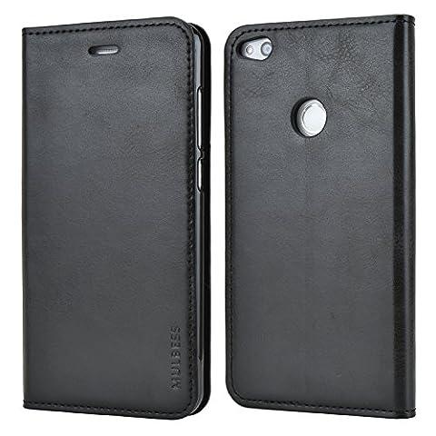 Mulbess Ledertasche im Ständer Book Case / Soft TPU für Huawei P8 Lite (2017) Tasche Hülle Leder