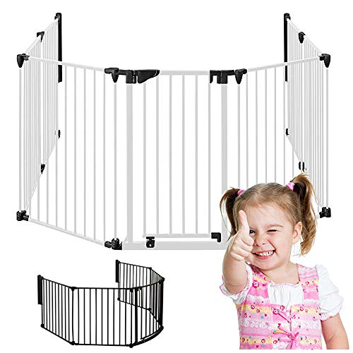 MARC - Chimenea Seguridad  190cm – 370cm   Bebé Niños Guardia Puerta   W5