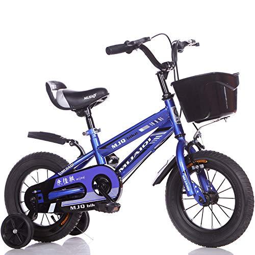 1-1 16 Zoll Kinder Fahrrad, Verstellbare Höhe Doppelbremse Rutschfest Sicherheit Jungs Mädchen Kinder Draussen Radfahren Spielzeug,Purple