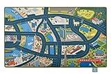 Heimatpiste Spielteppich Stadt Düsseldorf - Straßenteppich für Kinder, Spieleteppich Straße, 100 x 160 cm, Ökotex 100 Zertifiziert, Teppich Kinderzimmer mit Kettelung