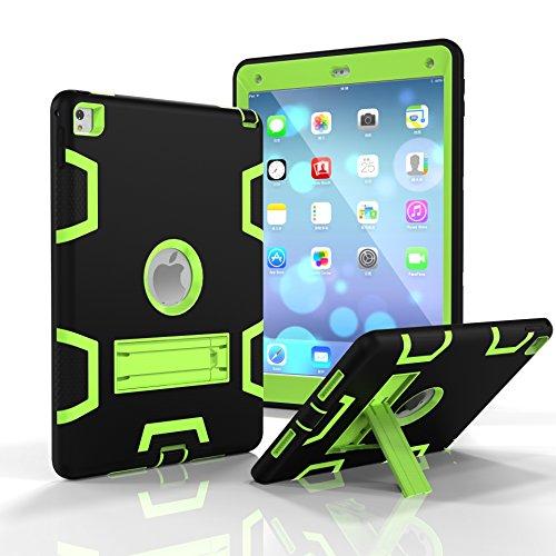 iPad Air 2 Hülle, iPad Pro 9.7 2016 Hülle, Fizze dreilagige PC & Silikon High Impact Hybrid Drop Proof Armor Full Body Schutzhülle mit Ständer für iPad Pro 9,7 Zoll 2016 / iPad Air 2 (iPad 6)
