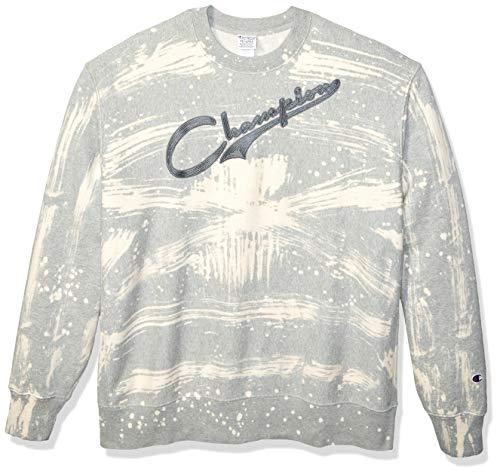 Champion Life Herren Custom Bleach Splatter Reverse Weave Sweatshirt, Oxford Gray, X-Klein 806 Oxford