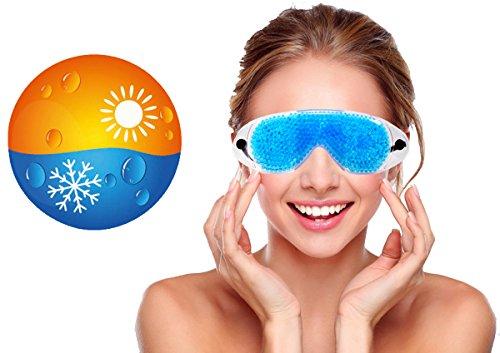 Gel-Augenmaske Schlafmaske, Augengelmaske Augen Kühlmaske Kalt & Warm mit Gel-Perlen, M&H-24 - Ergänzung Behandeln