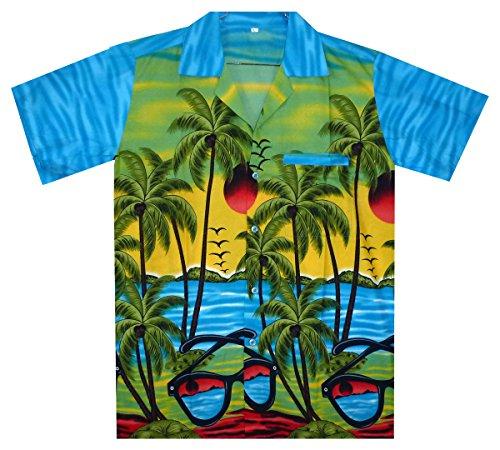 V.H.O. Funky Hawaiihemd, Sunglasses, türkis, L