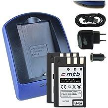2 Baterìas + Cargador (USB/Coche/Corriente) para EN-EL9 ENEL9 / Nikon D40, D40x, D60, D3000, D5000