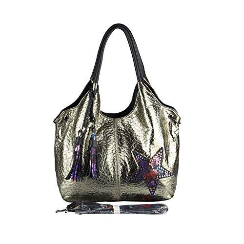 OBC Only-Beautiful-Couture, Borsa a spalla donna marrone bronzo ca.: 42x30x13 cm (BxHxT) Champagne 48x32x14 cm