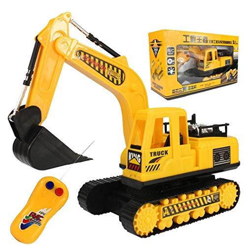 Gfone Ferngesteuerter Raupenbagger Fahrzeug, Bagger, Baustellenfahrzeug, Spielzeug Spiel Baufahrzeug Geschenk für Kinder