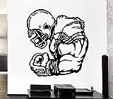 LovelyHomeWJ 3D Design Stickers Athlète Sport Jeu Domine Rugby Player Vinyle Stickers Muraux Home Decor Salon 56x61 cm