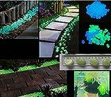 uni-k 100Glow in the Dark Garden Pebbles für Durchgang, und Outdoor Decor Deko Steinen