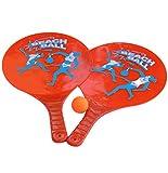 Aojie Beachball Set 2 Schläger + 1 Ball Kunststoff Glitzereffekt