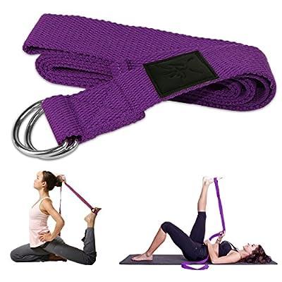 IVIM Yoga Set mit 2 Yogablöcke und 1 Yoga Gurt Aus Metall D-Ringen, Yogabricke aus High-Density Schaum, Gute Zubehör für Banlanceübung, Yogatraining, Fitness, Dehnübung