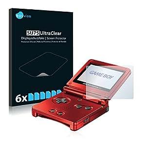 6x Savvies Film Protection pour Nintendo Gameboy Advance GBA SP Protection écran Film Protecteur Transparent
