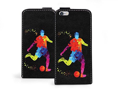 etuo Hülle für Apple iPhone 6 - Hülle Flip Fantastic - Fußballer Handyhülle Schutzhülle Etui Case Cover Tasche für Handy