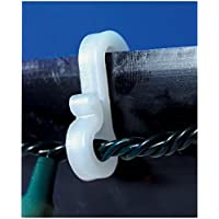 Ex-Pro® Mini Gutter Hooks Clips Outdoor Christmas Xmas Icicle Fairy Lights Plastic White- Pack of 36