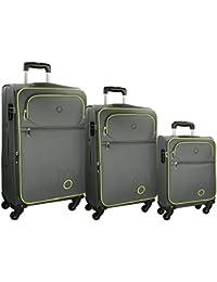 Roll Road Chelsea Juego de maletas, 79 cm, 182.0 litros, Gris