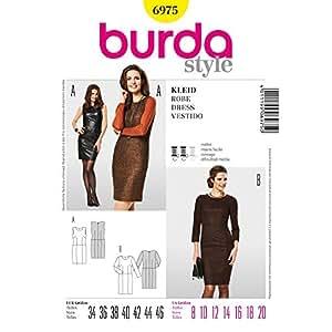 Burda B6975 Patron de Couture Robe 19 x 13 cm