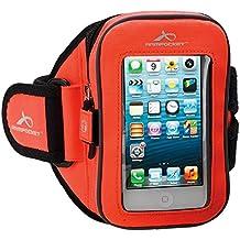 ARM Pocket® Sport I de 25Armband para iPhone 5S, 5C Samsung Galaxy S2, Xperia Z3Compact o comparable grandes teléfonos hasta 135mm de altura