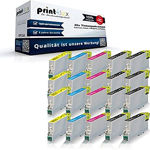 20x XL Tintenpatronen für Epson Stylus Office B40W BX300F BX310FN BX510W BX600FW BX610FW Stylus S20 S21 SX100 SX105 SX110 SX115 SX200 SX205 SX210 SX21