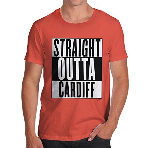 Herren Straight Outta Cardiff T-Shirt Orange