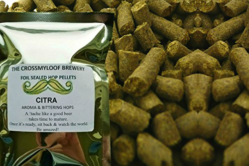 100g of Citra Hop Pellets. 11.5 % AA - 2017. Cold Stored CO2 Flushed for Freshness (Liberty-mail Post)