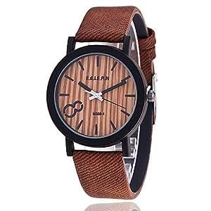 Rtimer orologio da polso con quadrante imitazione legno e for Orologio legno amazon