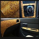 HOHO 124cmx30cm Abziehen und Aufkleben Farbe schwarz selbstklebend, Holz, für Vinyl-Folie mit Papier-Film für Autos