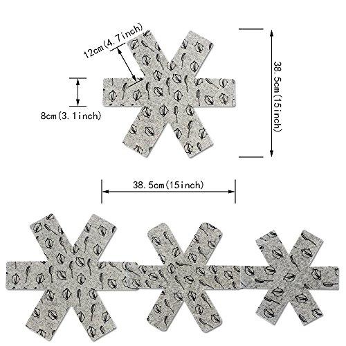 _ Tomnk 9 Proteggi pentole Protezioni Per padelle in tre dimensioni, grandi, medie, piccole confronta il prezzo online