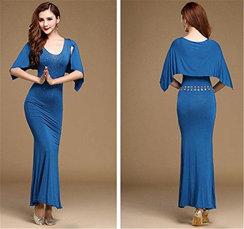 robe de formation en danse du ventre confortable / spectacles de danse du ventre jupe Blue