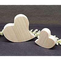 Herzen-Set aus Holz, Deko Poplar