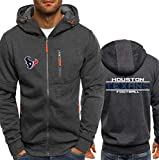 CCL NFL Jerseyhoodie Houston Texans, Fußball Kleidung Langarm Zipper Beiläufige Bequeme Sweatshirt