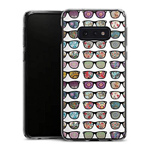 DeinDesign Slim Case kompatibel mit Samsung Galaxy S10e Silikon Hülle Ultra Dünn Schutzhülle Glasses Brille Hipster