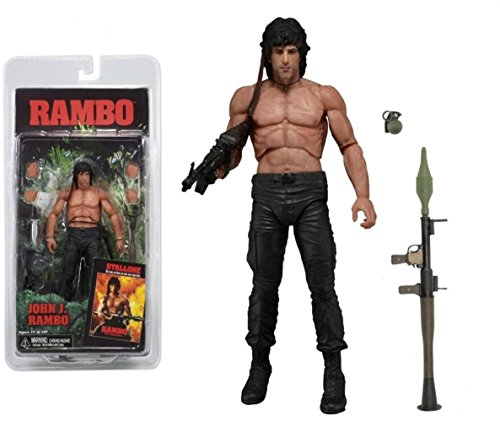 Top Top Anime Club Rambo First Blood Teil II - 17,8 cm Action Figur - Serie 3 (Rocky) NECA (3-action-figuren Rocky)
