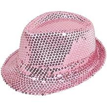 Rosa claro gorro de con diseño de lentejuelas y TRILBY 58521,6 cm S e instrucciones para hacer vestidos de accesorios de GANGSTER FANCY traje de neopreno para mujer disfraz infantil de