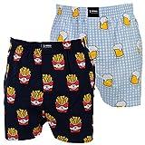 Happy Shorts 2 Webboxer Herren Boxer Motiv Boxershorts Design 12, Grösse:XL - 7-54, Präzise Farbe:Design 12