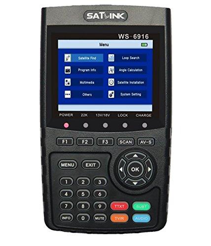 SATLINK WS-6916 HD Digital Satfinder Messgerät DVB-S DVB-S2 / MPEG-2 & MPEG-4 HDMI