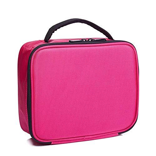 WANGXN Trousse à Maquillage de Voyage avec boîte à pinceaux avec Compartiment de Rangement et Trousse de Maquillage portative,Pink