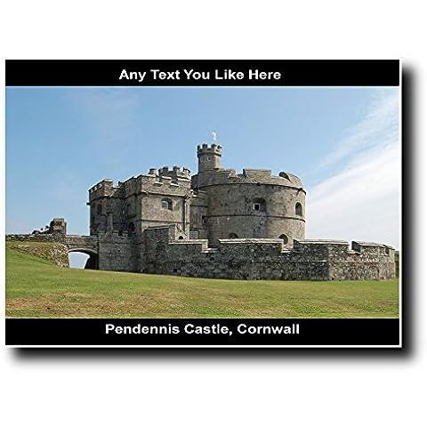 Pendennis Cornovaglia castello di grande, personalizzato con (Castello Pendennis)