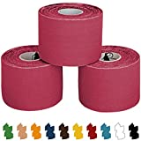 ALPIDEX 3 x Kinesiologie Tape 5 cm x 5 m in verschiedenen Farben
