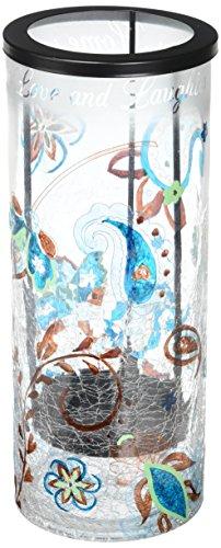 Perfekt Paisley Home Glas Hurricane Kerzenhalter, Crackled Glas, 25,4cm hoch, Kerze Nicht im Lieferumfang enthalten (Glas-hurricane Für Kerzen)