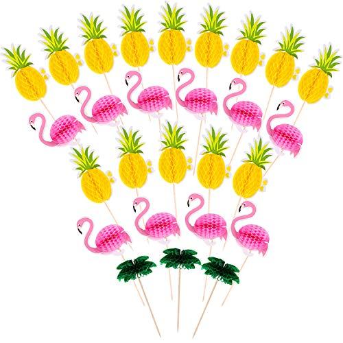 90 Stücke Flamingo Ananas Kokosnuss Baum Cupcakes Topper Luau Hawaii Geburtstag Hochzeit Strand Party Dekoration