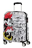 American Tourister Wavebreaker Disney - Comics- Spinner Small Bagaglio a mano, 55 cm, 36 liters, Bianco (Minnie Comics White)