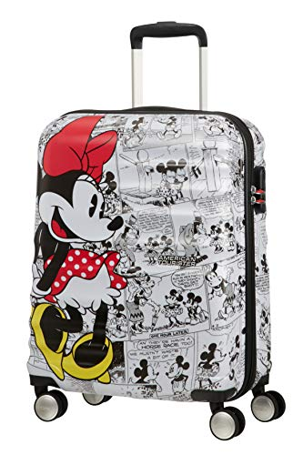 American Tourister Wavebreaker Disney Comics Spinner S Valigia per Bambini, 55 cm, 36 L, Multicolore (Minnie Comics White)