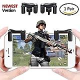 Aimus L1R1 Trigger Sharpshooter Trigger Aiming Controller per PUBG Mobile/Regole di sopravvivenza, Misura per 4.5-6.5inch Android Phone/iPhone [1 Pair]