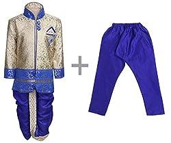 AJ Dezines Boys Indo Western Kurta Dhoti Pant Set for Kids (9001_ROYAL_4)