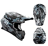 Thor Crosshelm Sector Covert Midnight Motocross MX Helm matt schwarz navy Gr. L