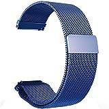 Ersatzbänder für Garmin Vivoactive 3 Fitness Uhr 20mm Einstellbare Milanese Mesh Loop Edelstahl Metallband Schnellspanner Zubehör Armband (Blau)