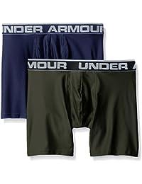 "Under Armour Men's Original Series 6"" Boxerjock 2 PK, Ropa interior para hombre, Varios colores (Midnight Navy/Bottle Green), M"