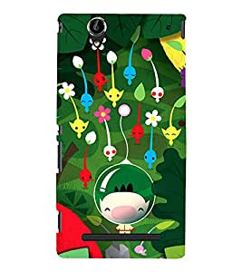 Boy Underwater with Flowers 3D Hard Polycarbonate Designer Back Case Cover for Sony Xperia T2 Ultra :: Sony Xperia T2 Ultra Dual SIM D5322 :: Sony Xperia T2 Ultra XM50h